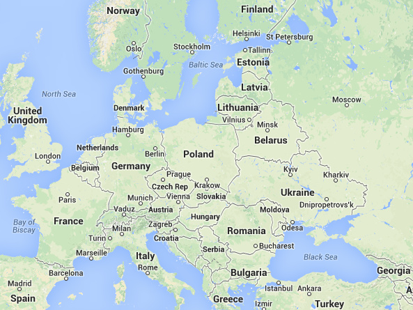 Map Of Europe 2014 – Travel Map Of Eastern Europe