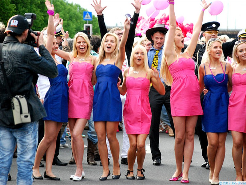 Latvian blonde parade