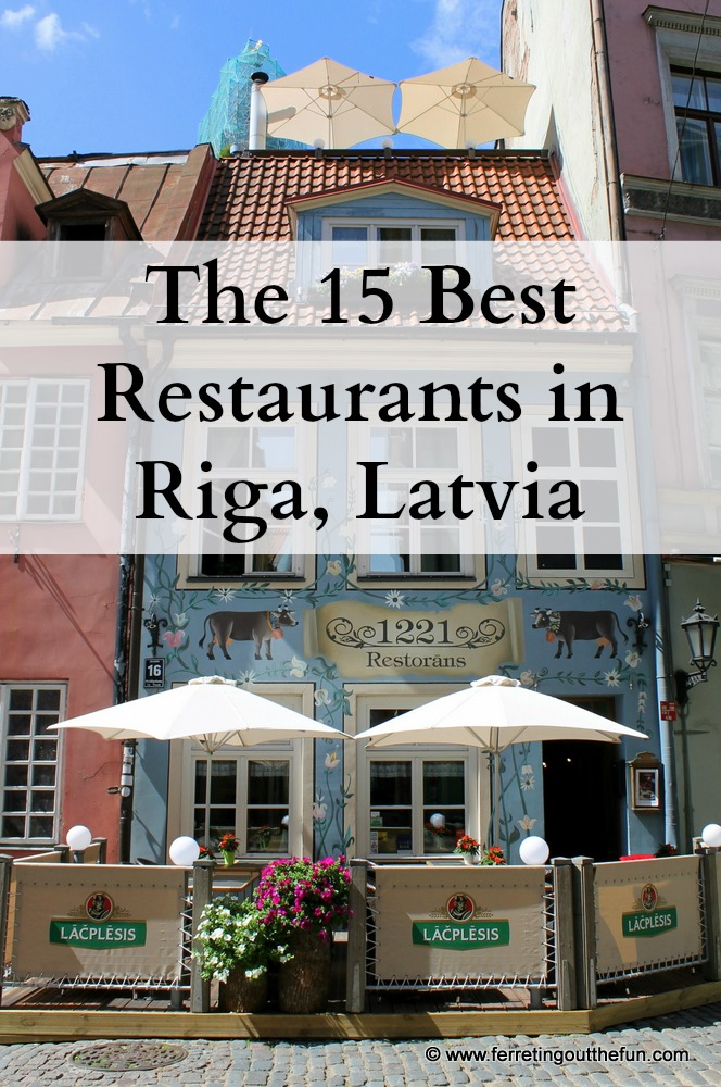 Riga Latvia Restaurant Guide