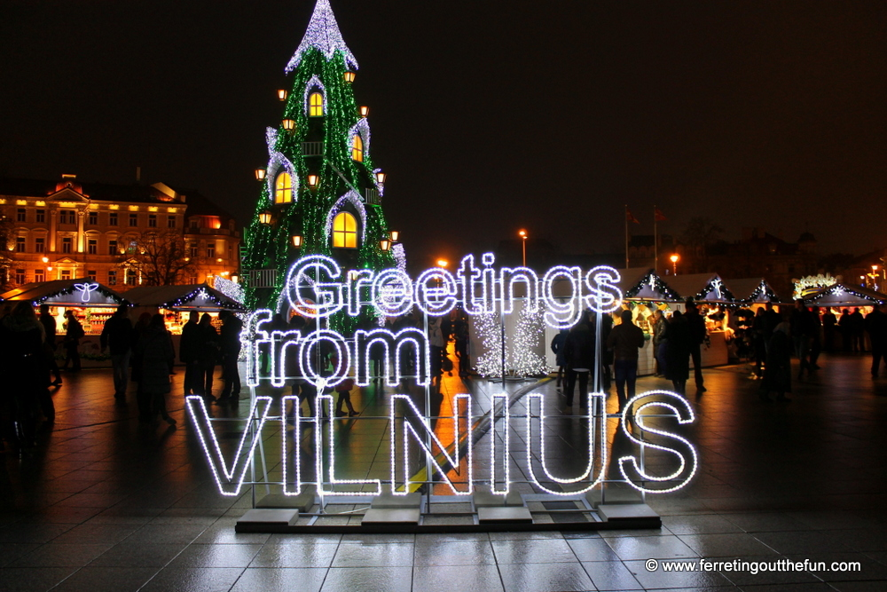 An Enchanted Christmas In Vilnius Lithuania Ferreting