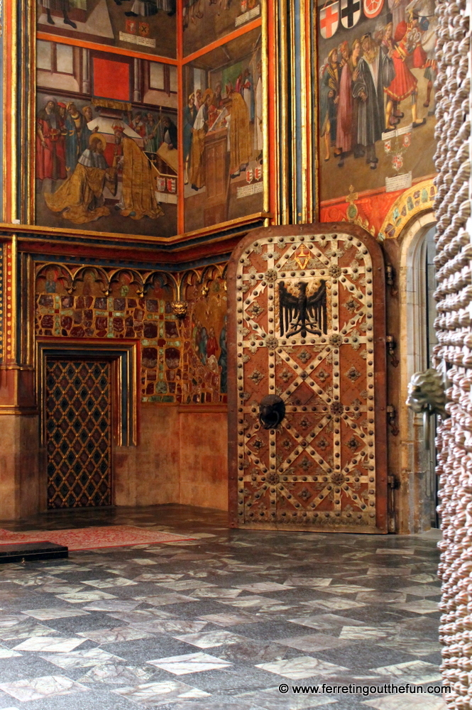 An ornate chapel in St Vitus Cathedral, Prague