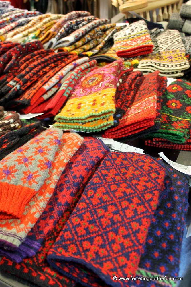 Latvian Mittens at a shop in Riga