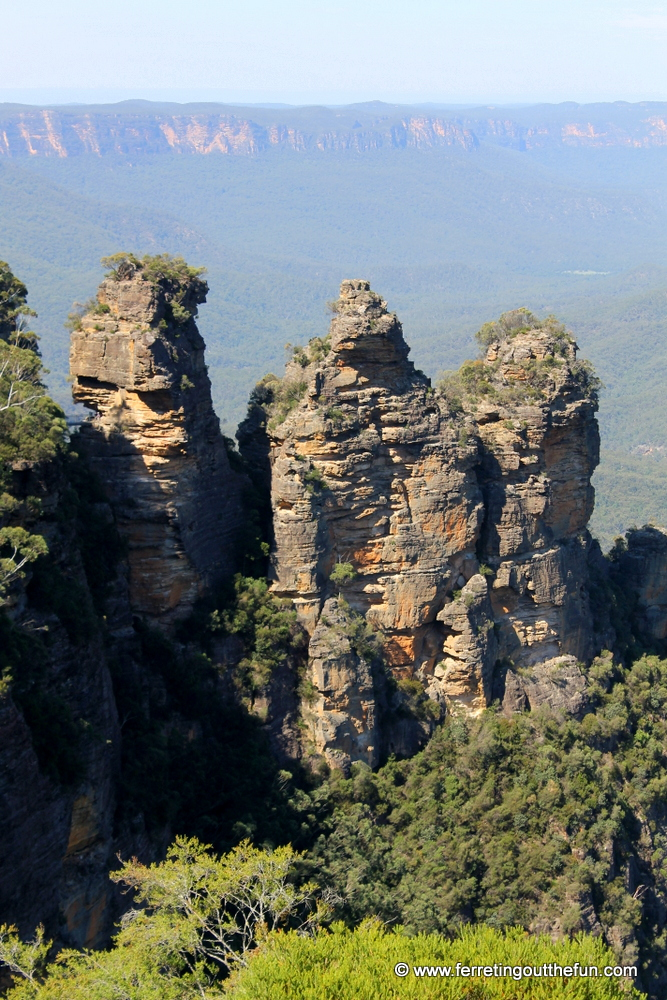 Three Sisters rock formation in the Blue Mountains of Australia