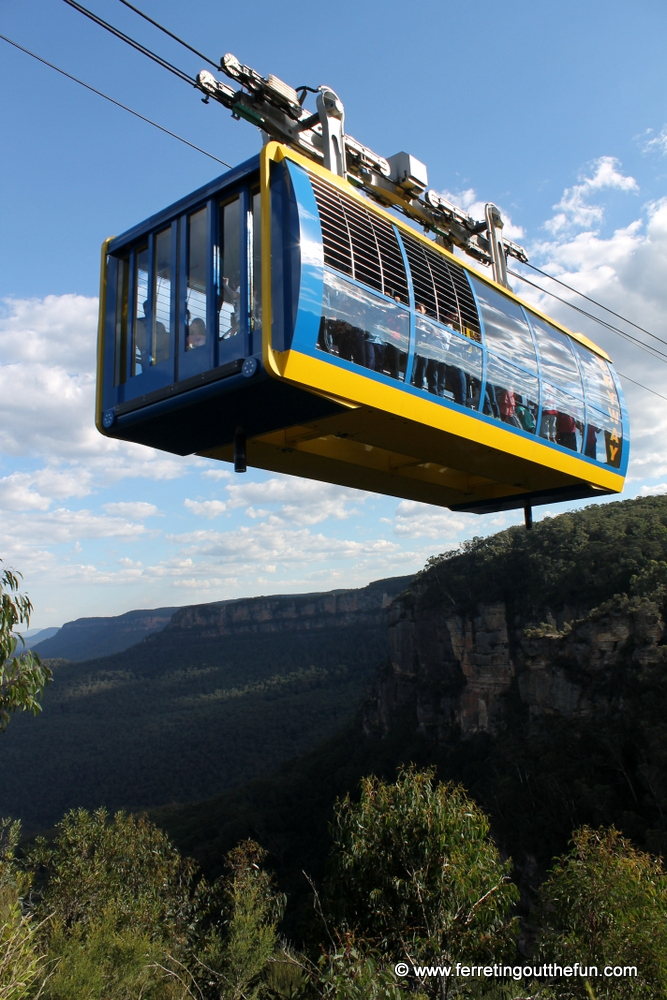 Scenic Skyway cable car in the Blue Mountains of Australia